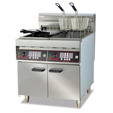 Prince Manufacturer Hot Sale Commercial Double Tank Gas Deep Flat Chicken and French Fries Fryer